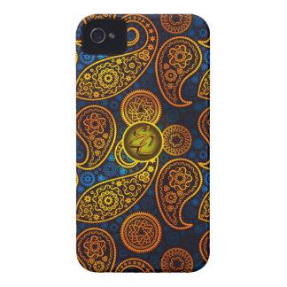 EC Royal Blue Paisley iPhone 4 Cover