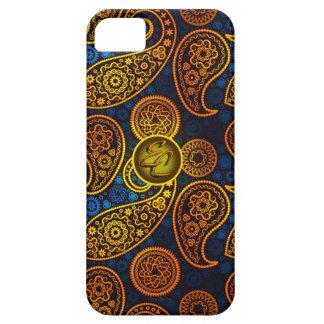 EC Royal Blue Paisley iPhone SE/5/5s Case