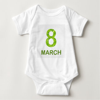 Ecard for march 8- international womens day baby bodysuit