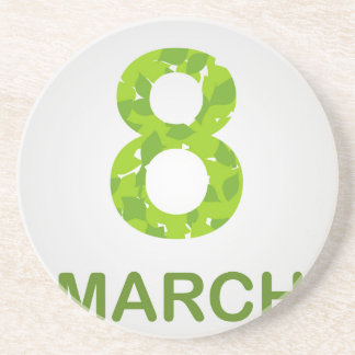 Ecard for march 8- international womens day drink coaster