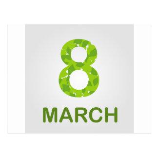 Ecard for march 8- international womens day postcard