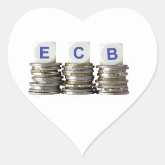 ECB - European Central Bank Heart Sticker