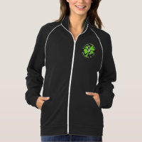 ECBB womens hoodie with logo on front and back