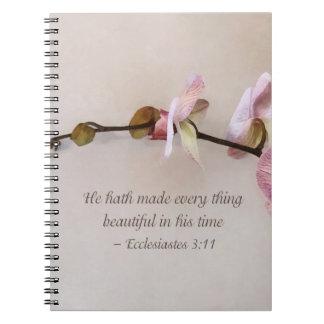 Ecc 3 11 él Hath hecho todo II hermoso Cuadernos