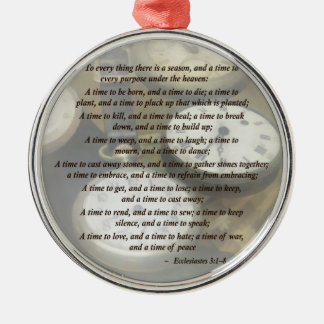 Ecc 3 1–8 To every thing there is a season Ornament