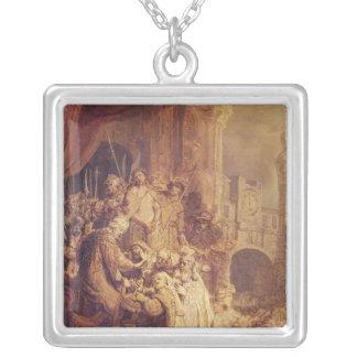 Ecce Homo, 1634 Square Pendant Necklace