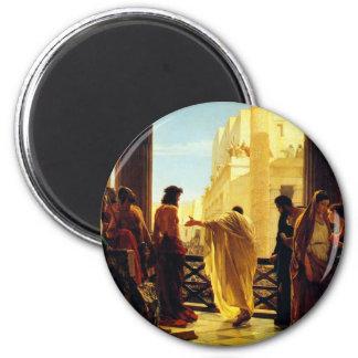 Ecce Homo - Antonio Ciseri 2 Inch Round Magnet