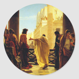 Ecce Homo - Antonio Ciseri Classic Round Sticker