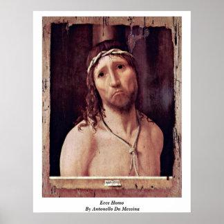 Ecce Homo By Antonello Da Messina Poster