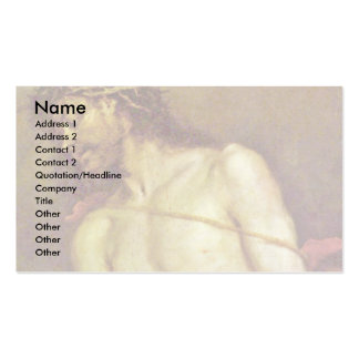 Ecce Homo By Cerezo D. J. Mateo (Best Quality) Business Card Templates