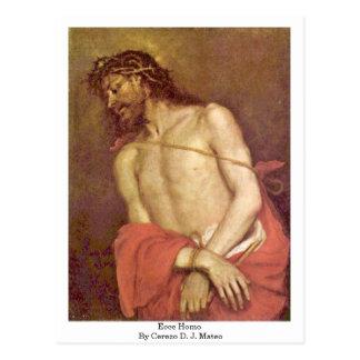 Ecce Homo By Cerezo D. J. Mateo Postcard