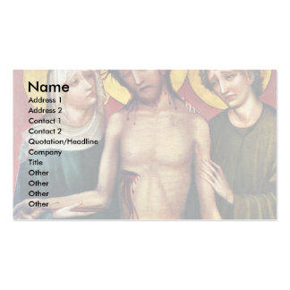 Ecce Homo By Meister Des Imhoff-Altars (Best Quali Business Card Templates