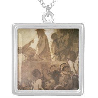 Ecce Homo, c.1848-52 Square Pendant Necklace
