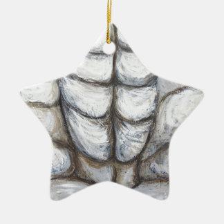 Ecce Homo locked in Rock (abstract Jesus portrait) Christmas Ornament