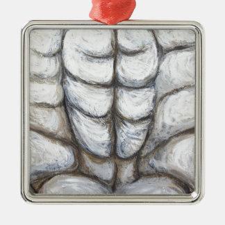 Ecce Homo locked in Rock (abstract Jesus portrait) Ornaments