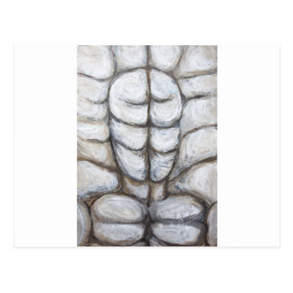 Ecce Homo locked in Rock (abstract Jesus portrait) Postcard