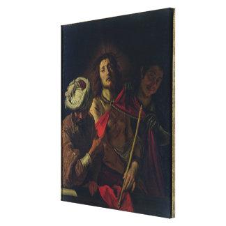 Ecce Homo (oil on canvas) Canvas Print