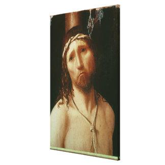 Ecce Homo (oil on panel) Canvas Print