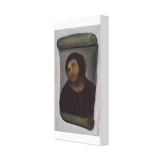 Ecce linen cloth homo canvas print