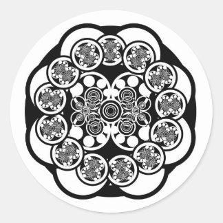 Eccentric Concentric Classic Round Sticker