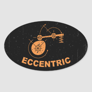 Eccentric Oval Sticker