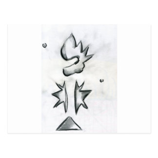 Eccentric Symmetries Postcard