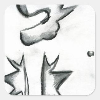 Eccentric Symmetries Square Sticker
