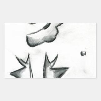 Eccentric Symmetries Rectangular Stickers