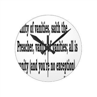 Eccles. 1:2, w2 round clock