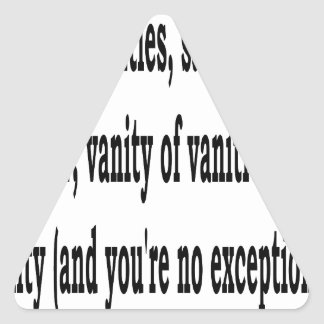Eccles. 1:2, w2 triangle sticker