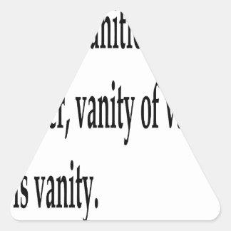Eccles. 1:2, w triangle sticker