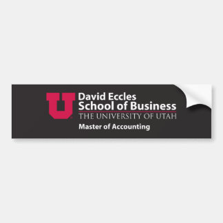 Eccles Accounting Bumper Sticker