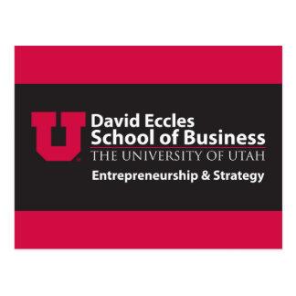 Eccles Entrepreneurship Strategy Postcard