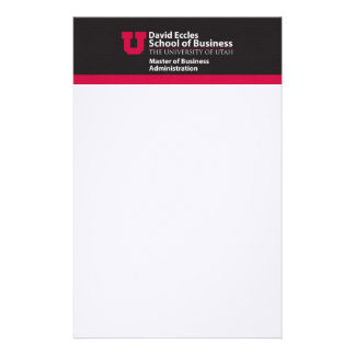 Eccles MBA Stationery