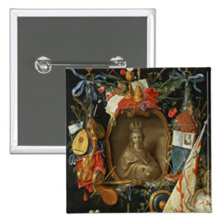 Ecclesia Surrounded by Symbols of Vanity Pinback Button
