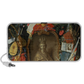 Ecclesia Surrounded by Symbols of Vanity Portable Speaker