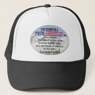 Ecclesiastes 10:2 trucker hat
