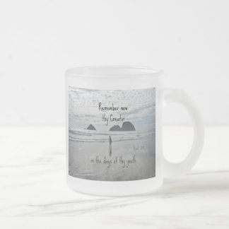 Ecclesiastes 12:1 Remember now thy Creator... 10 Oz Frosted Glass Coffee Mug