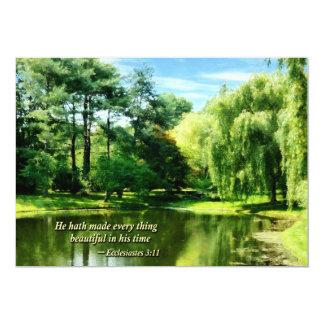Ecclesiastes 3 11 él Hath hecho todo Beautifu Invitación Personalizada