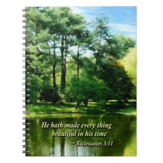 Ecclesiastes 3 11 él Hath hecho todo Beautifu Cuadernos