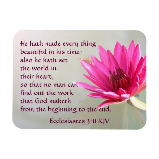 Ecclesiastes 3:11 Everything beautiful in His time Magnet