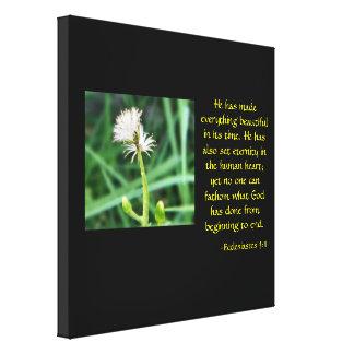 Ecclesiastes 3:11 floral canvas print