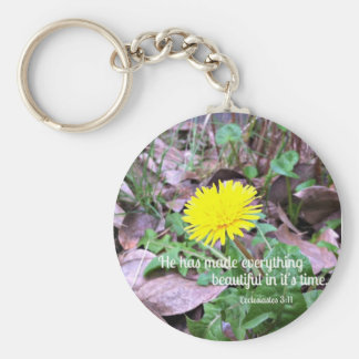 Ecclesiastes 3:11 He hath made everything ... Key Chain