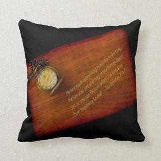 Ecclesiastes 3:11 throw pillow