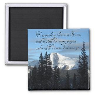 Ecclesiastes 3:1 2 inch square magnet