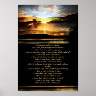 Ecclesiastes 3, 1-8 - sunrise inspirational poster