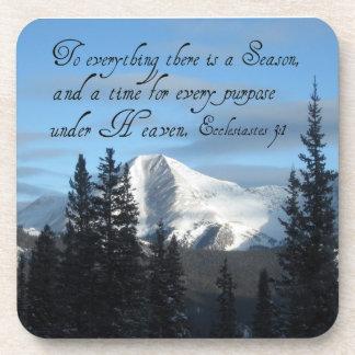 Ecclesiastes 3:1 coaster