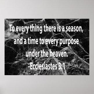 Ecclesiastes 3:1 poster