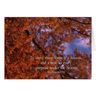 Ecclesiastes 3:1 To every thing there is a season Card
