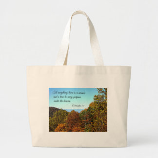 Ecclesiastes 3:1 To everything there is a season.. Canvas Bag